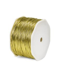 10M x 2mm CUT Metallic Gold Tinsel Braided Tie Cord for gift packaging