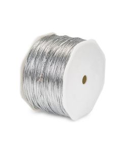 10M x 2mm CUT Metallic Silver Tinsel Braided Cord for gift packaging