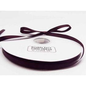 5M x 10mm Double face satin ribbon - Burgundy