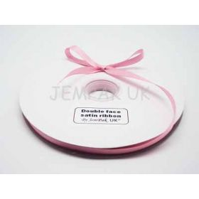 5M x 10mm Double face satin ribbon - Peony Pink