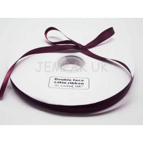 5M x 10mm Double face satin ribbon -Wine
