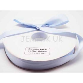 5M x 15mm Double face satin ribbon - Baby Blue