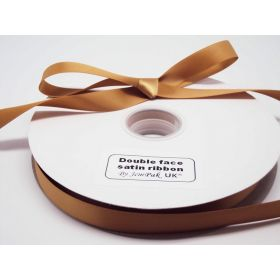 5M x 15mm Double face satin ribbon - Gold