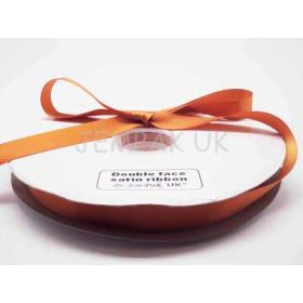5M x 15mm Double face satin ribbon - Golden Orange