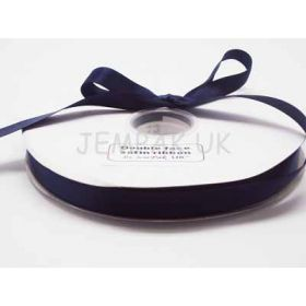 5M x 15mm Double face satin ribbon - Navy Blue