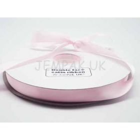 5M x 15mm Double face satin ribbon - Baby Pink