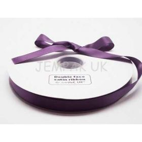5M x 15mm Double face satin ribbon - Purple