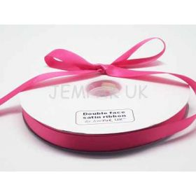 5M x 15mm Double face satin ribbon - Camilia Rose