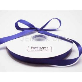 5M x 15mm Double face satin ribbon - Regal Purple