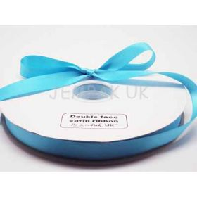 5M x 15mm Double face satin ribbon - Misty Turquoise