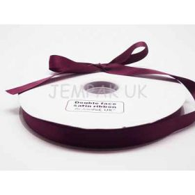 5M x 15mm Double face satin ribbon - Wine