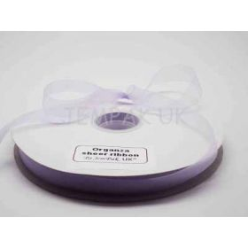 5M x 10mm Organza Sheer ribbon - Light Orchid