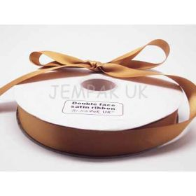 5M x 25mm Double face satin ribbon - Gold