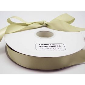 5M x 25mm Double face satin ribbon - Lime green