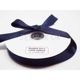 5M x 25mm Double face satin ribbon - Navy blue
