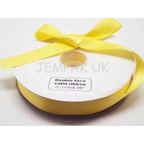 5M x 25mm Double face satin ribbon - Yellow