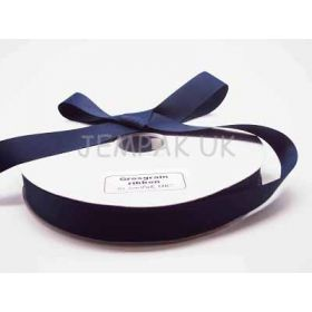 5M x 25mm Grosgrain ribbon - Navy blue