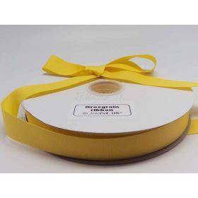 5M x 25mm Grosgrain ribbon - Yellow