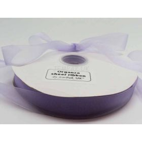 5M x 25mm Sheer organza  ribbon - Light Orchid