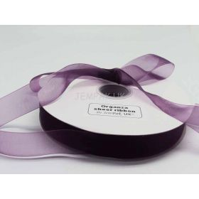 5M x 25mm Sheer ribbon - Purple
