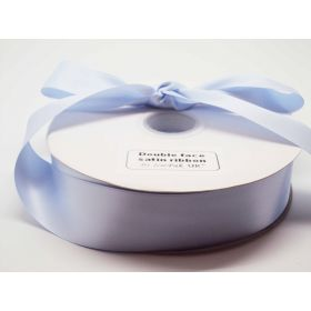 5M x 38mm Double face satin ribbon - Baby Blue