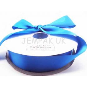 5M x 38mm Double face satin ribbon - Royal Blue