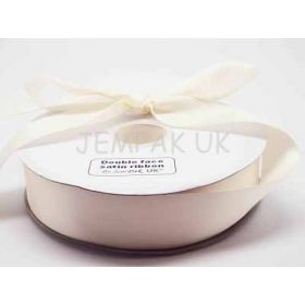 5M x 38mm Double face satin ribbon - Antique white