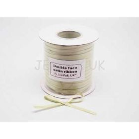 5M x 5mm Double face satin ribbon - Lime green