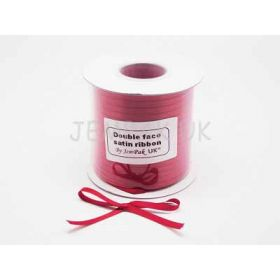 5M x 5mm Double face satin ribbon - Red
