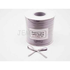 5M x 5mm Double face satin ribbon - Silver