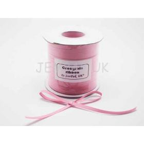 5M x 5mm Grosgrain ribbon - Baby pink