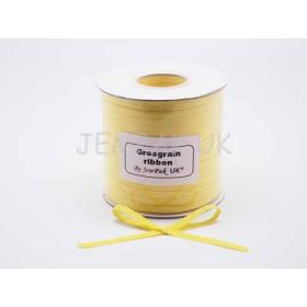 5M x 5mm Grosgrain ribbon - Yellow