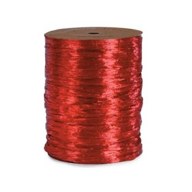 91.4M Shiny pearlised Raffia ribbon - Red