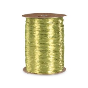 91.4M Shiny pearlised  Raffia ribbon - Champagne