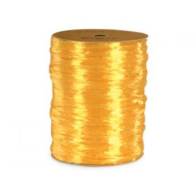 91.4M BERWICK Shiny pearlised Raffia ribbon - Daffodil Yellow