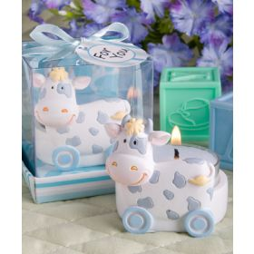 Blue toy cow design Candle Holders favours (Pack of 2)