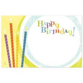 """Pack of 10 """"Happy Birthday"""" Candles mini enclosure gift cards  (9cm x 6cm)"""