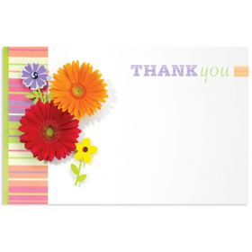 """Pack of 10 """"Thank You"""" mini enclosure gift cards  (9cm x 6cm)"""
