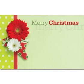 """Pack of 10 """"Merry Christmas"""" Stocking mini enclosure gift cards (9cm x 6cm)"""