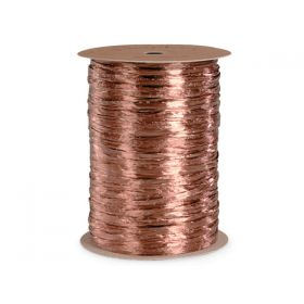 91.4M Shiny pearlised Raffia ribbon - Copper