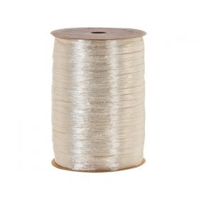 91.4M BERWICK Shiny pearlised Raffia ribbon - CREAM