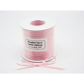 5M x 5mm Double face satin ribbon - Peony Pink
