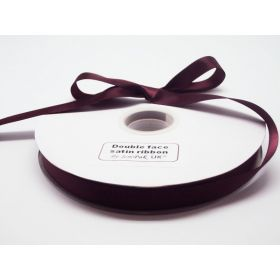 5M x 15mm Double face satin ribbon - Burgundy