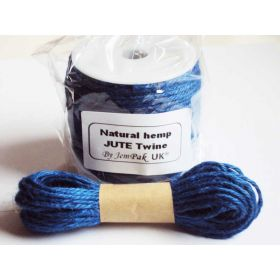 JEMPAK UK 10M x 2mm thick ROYAL BLUE natural Hemp Jute Twine rope