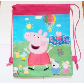 Peppa Pig kids drawstring backpack gym/swimming/school bag - Pink