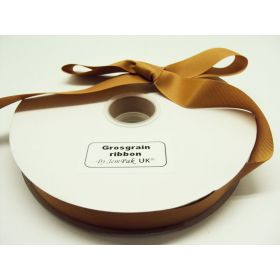 5M x 25mm Grosgrain ribbon - Gold