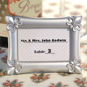 Resin fleur de lis place card holder/photo frame (Pack of 10)