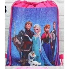 FROZEN CHARACTERS - kids drawstring backpack gym/swimming/school bag