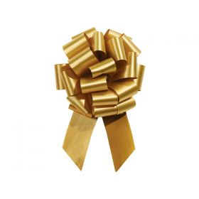 22mm embossed pull bow (Pack of 10) - Gold