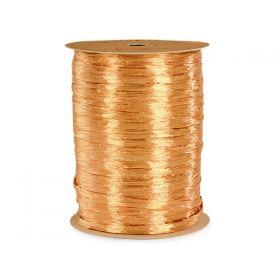 91.4M Shiny pearlised Raffia ribbon - Gold